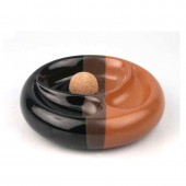 Smokers Line Pfeifenaschenbecher Keramik 2er schwarz-braun
