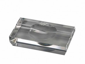 Passatore Zigarrenaschenbecher Kristall 2 Ablagen