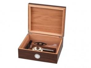 Humidor-Set Walnuss Dekor für 25 Zigarren