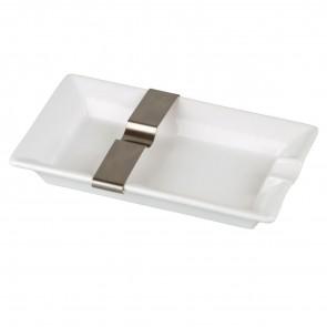 Basic Zigarrenascher Keramik 1er mit Ablage aus Metall