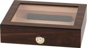 Basic Humidor Walnuss mit Glasdeckel für 20 Zigarren