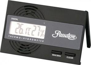 Passatore Digital Hygro-/Thermometer schwarz mit Fuß und Magnet