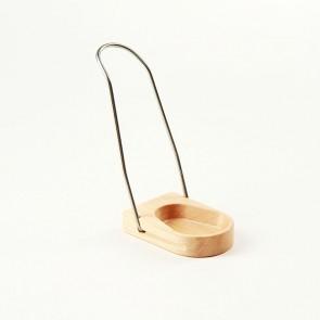 Pfeifenständer Erlenholz mit Metallbügel/klappbar 1er