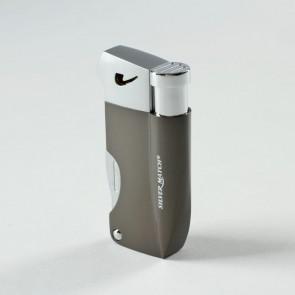 Silver Match Pfeifenfeuerzeug Piezo Bayswater gunmetal